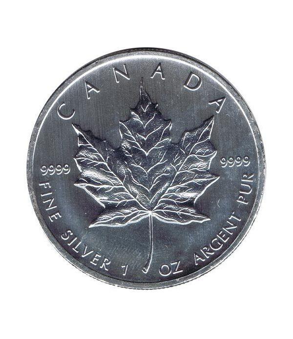 Moneda onza de plata 5$ Canada Hoja de Arce 2012  - 1