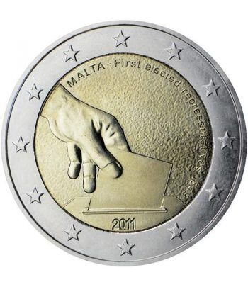 moneda conmemorativa 2 euros Malta 2011.  - 2