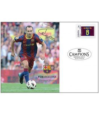 Colección Filatélica Oficial F.C. Barcelona. Pack nº01.  - 10