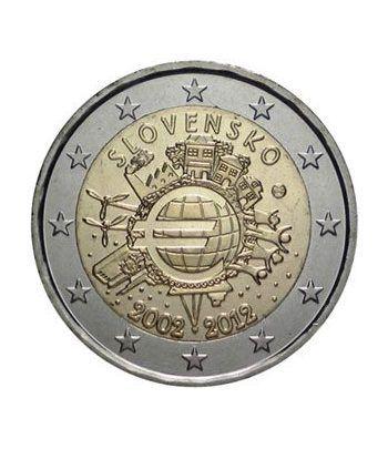 """moneda Eslovaquia 2 euros 2012 """"X ANIVERSARIO DEL EURO"""".  - 2"""
