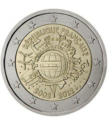 """moneda Francia 2 euros 2012 """"X ANIVERSARIO DEL EURO"""".  - 2"""