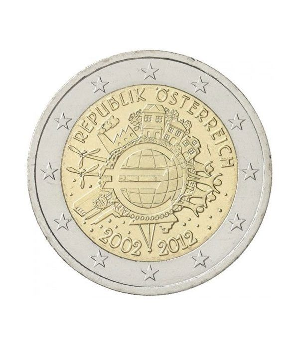 "moneda Austria 2 euros 2012 ""X ANIVERSARIO DEL EURO"".  - 2"