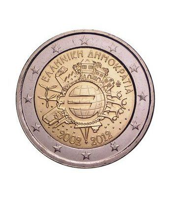 """moneda Grecia 2 euros 2012 """"X ANIVERSARIO DEL EURO"""".  - 2"""