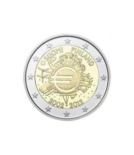 "moneda Finlandia 2 euros 2012 ""X ANIVERSARIO DEL EURO"".  - 2"