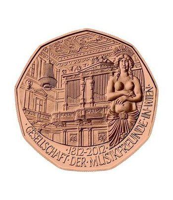 moneda Austria 5 Euros 2012 (nueve esquinas) Amigos música Cobre  - 1