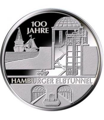 moneda Alemania 10 Euros 2011 J. Tunel Elba.  - 1