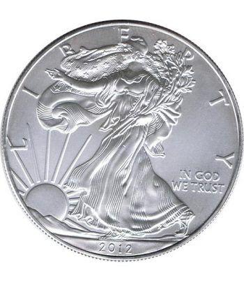 Moneda onza de plata 1$ Estados Unidos Liberty 2012  - 4