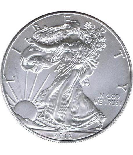 Moneda onza de plata 1$ Estados Unidos Liberty 2012  - 1