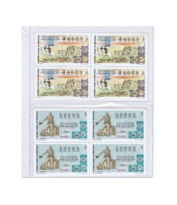 Colección loteria Nacional en bloque de 4.  - 1