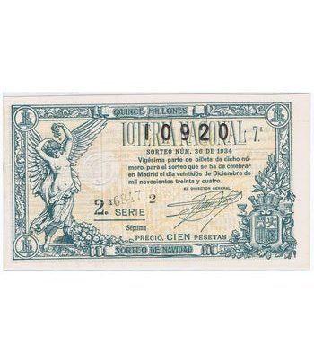 Loteria Nacional. 1934 sorteo 36 (Navidad).  - 2