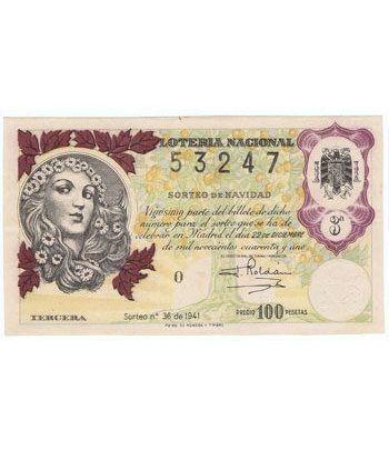 Loteria Nacional. 1941 sorteo 36 (Navidad).  - 2