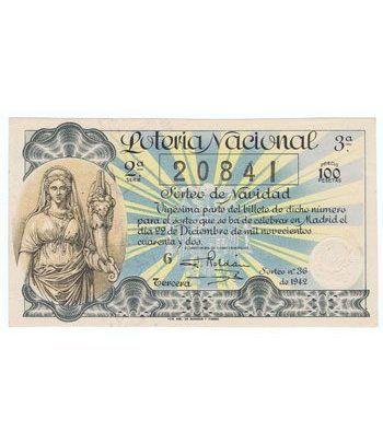Loteria Nacional. 1942 sorteo 36 (Navidad).  - 2