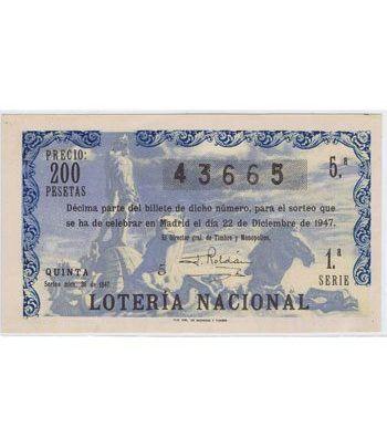 Loteria Nacional. 1947 sorteo 36 (Navidad). Azul.  - 2