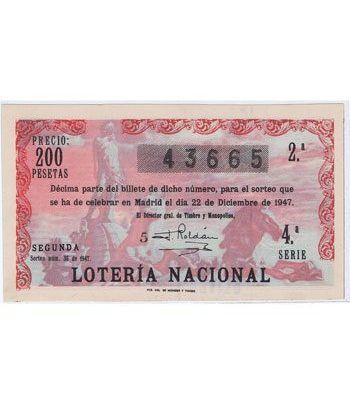 Loteria Nacional. 1947 sorteo 36 (Navidad). Rosa.  - 2
