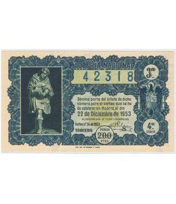 Loteria Nacional. 1953 sorteo 36 (Navidad).  - 2