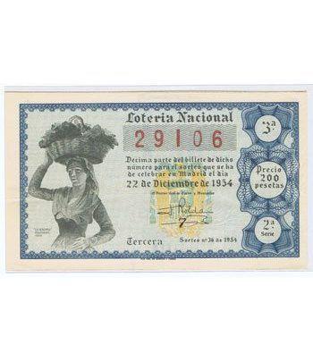 Loteria Nacional. 1954 sorteo 36 (Navidad).  - 2