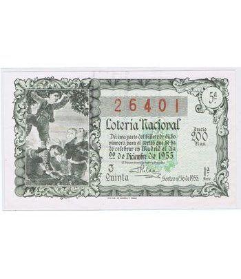 Loteria Nacional. 1955 sorteo 36 (Navidad).  - 2