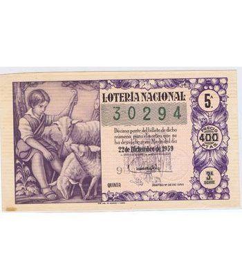 Loteria Nacional. 1959 sorteo 36 (Navidad).  - 2