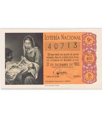 Loteria Nacional. 1960 sorteo 36 (Navidad). Naranja.  - 2