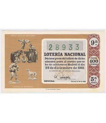 Loteria Nacional. 1961 sorteo 36 (Navidad).  - 2