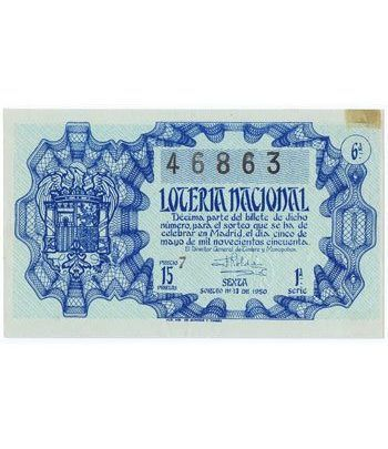 Loteria Nacional. 1950 sorteo 13.  - 2