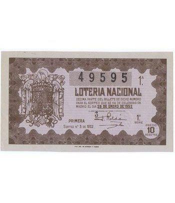 Loteria Nacional. 1952 sorteo 3.  - 2
