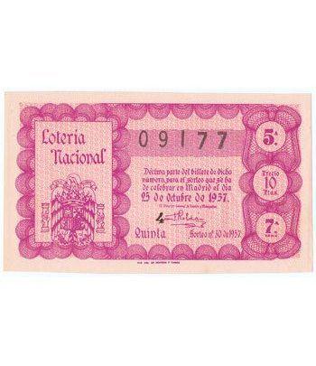 Loteria Nacional. 1957 sorteo 30.  - 2