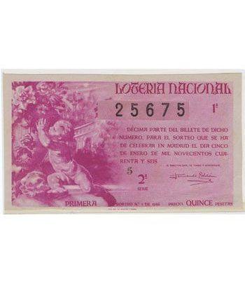 Loteria Nacional. 1946 sorteo 1.  - 2