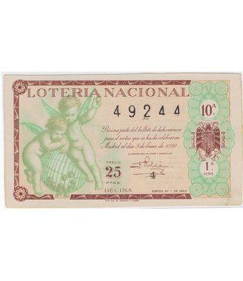 Loteria Nacional. 1950 sorteo 1.  - 2