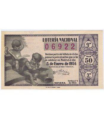 Loteria Nacional. 1954 sorteo 1. Azul.  - 2