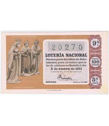Loteria Nacional. 1961 sorteo 1.  - 2