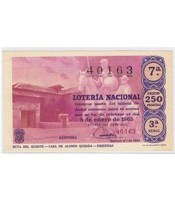 Loteria Nacional. 1965 sorteo 1.  - 2