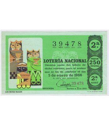 Loteria Nacional. 1966 sorteo 1.  - 2