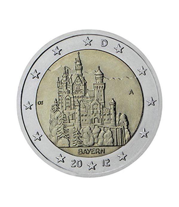 moneda conmemorativa 2 euros Alemania 2012. 5 monedas.  - 2