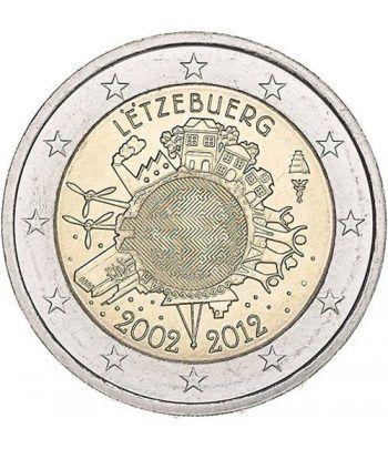 "moneda Luxemburgo 2 euros 2012 ""X ANIVERSARIO DEL EURO"".  - 2"