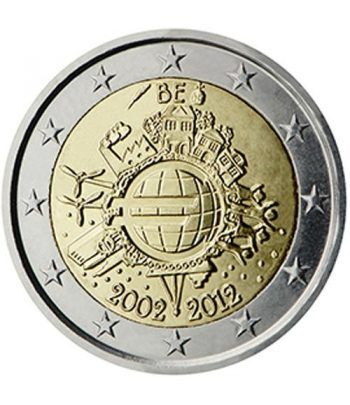 "moneda Belgica 2 euros 2012 ""X ANIVERSARIO DEL EURO"".  - 2"