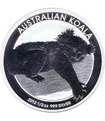 Moneda media onza de plata 1/2$ Australia koala 2012  - 1