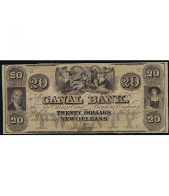Louisiana. New Orleans 20$ 18xx. Canal Bank. SC.  - 1