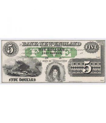 Connecticut. East Haddam 5$ 18xx. Bank of New-England. SC  - 1