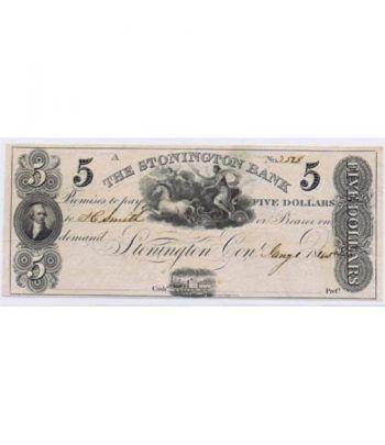 Stonington 5$ 1845. The Stonington Bank. SC.  - 1