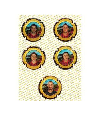 Placas de Cava. Colección oficial FC Barcelona. (6) Jugadores.  - 2