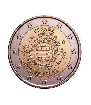 """moneda España 2 euros 2012 """"X ANIVERSARIO DEL EURO"""".  - 2"""