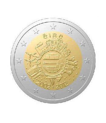 "moneda Irlanda 2 euros 2012 ""X ANIVERSARIO DEL EURO"".  - 2"