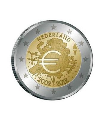 "moneda Holanda 2 euros 2012 ""X ANIVERSARIO DEL EURO"".  - 2"