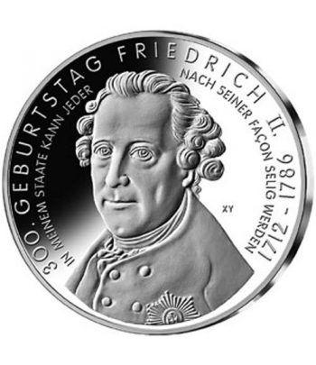 moneda Alemania 10 Euros 2012 A. 300 Aniv. Federico II.  - 1