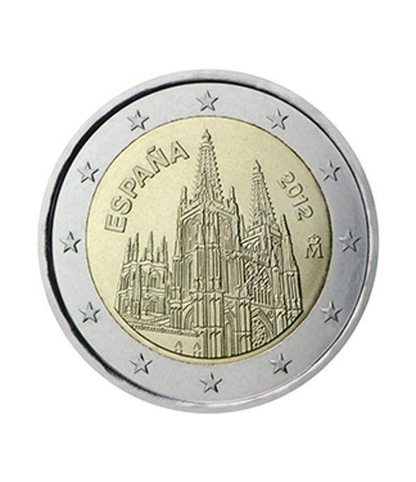 moneda conmemorativa 2 euros España 2012 Catedral de Burgos.  - 2
