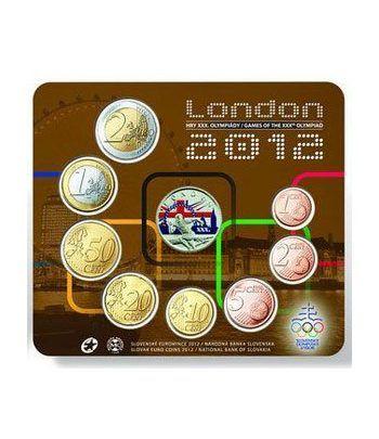 Cartera oficial euroset Eslovaquia 2012. Londres 2012.  - 2