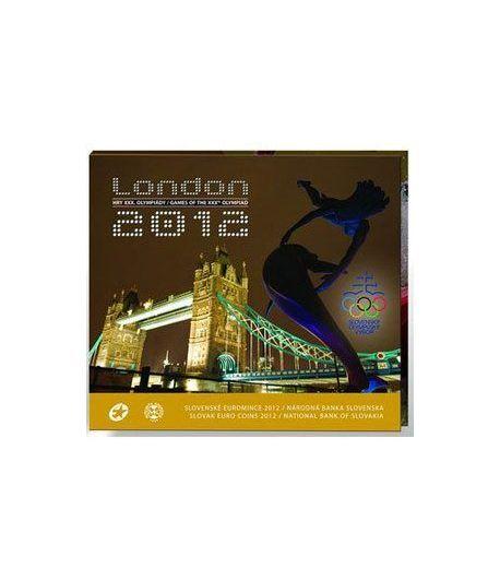 Cartera oficial euroset Eslovaquia 2012. Londres 2012.  - 1