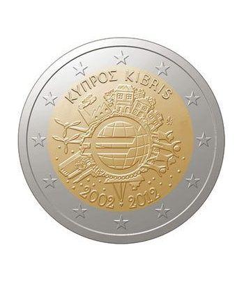 """moneda Chipre 2 euros 2012 """"X ANIVERSARIO DEL EURO"""".  - 2"""