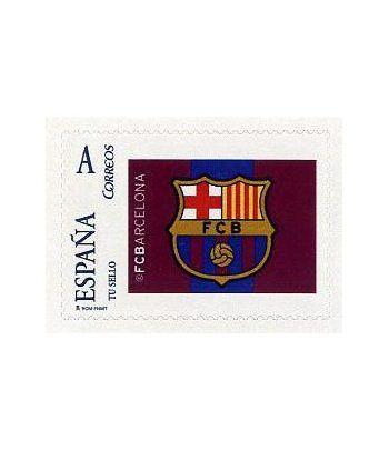 Sello Oficial F.C. Barcelona. Escudo.  - 2